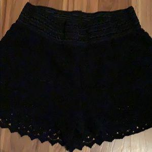 Rewind Shorts - Super cute & comfy black lace shorts size L